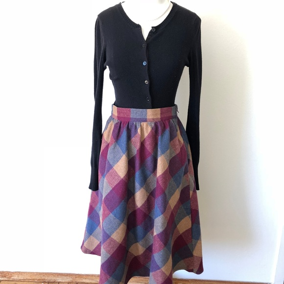 64fe13742a Modcloth Sunday Sojourn Midi Skirt in Warm Plaid. M_5b33fdec3c9844e68c8d0682
